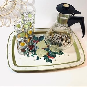 Vintage | Holly Berry And Bell Serving Tray